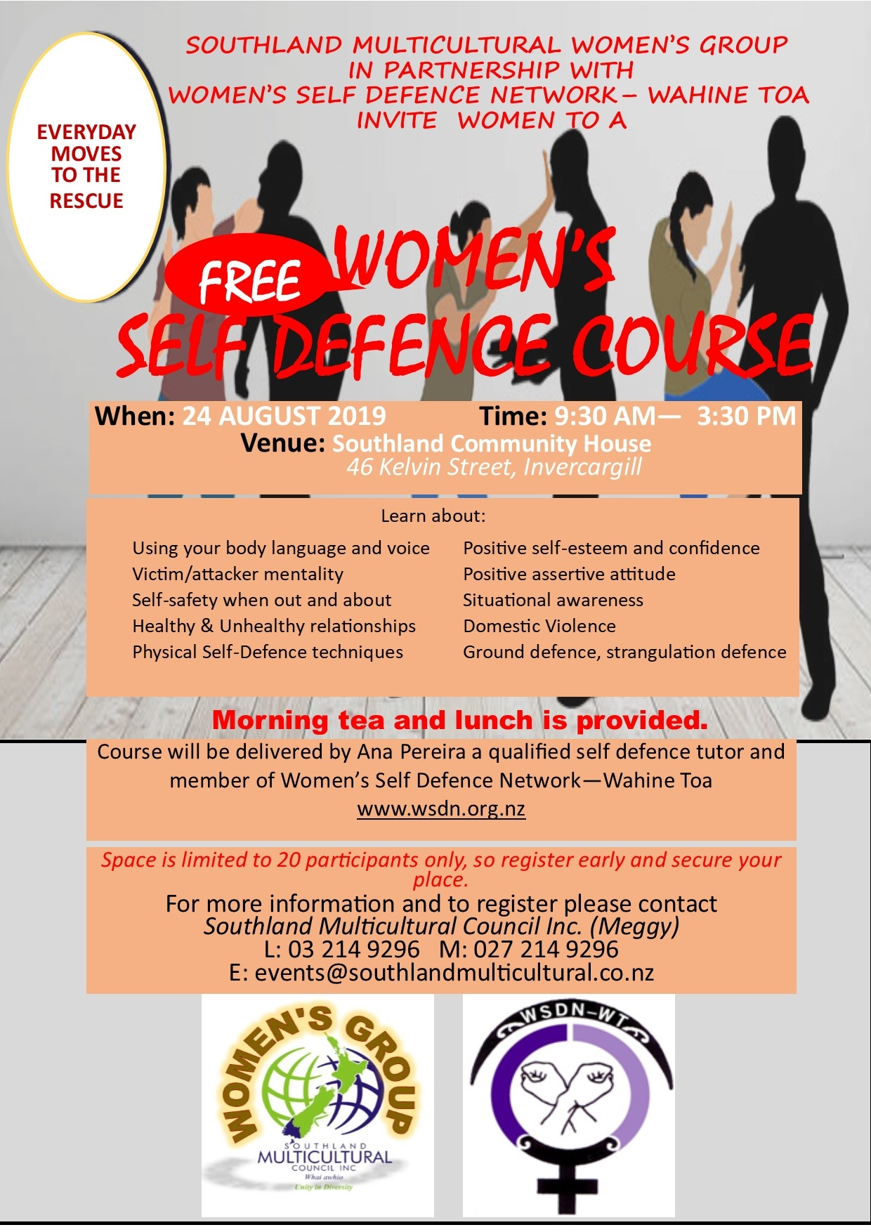 August Flyer Self Defence Course_2019