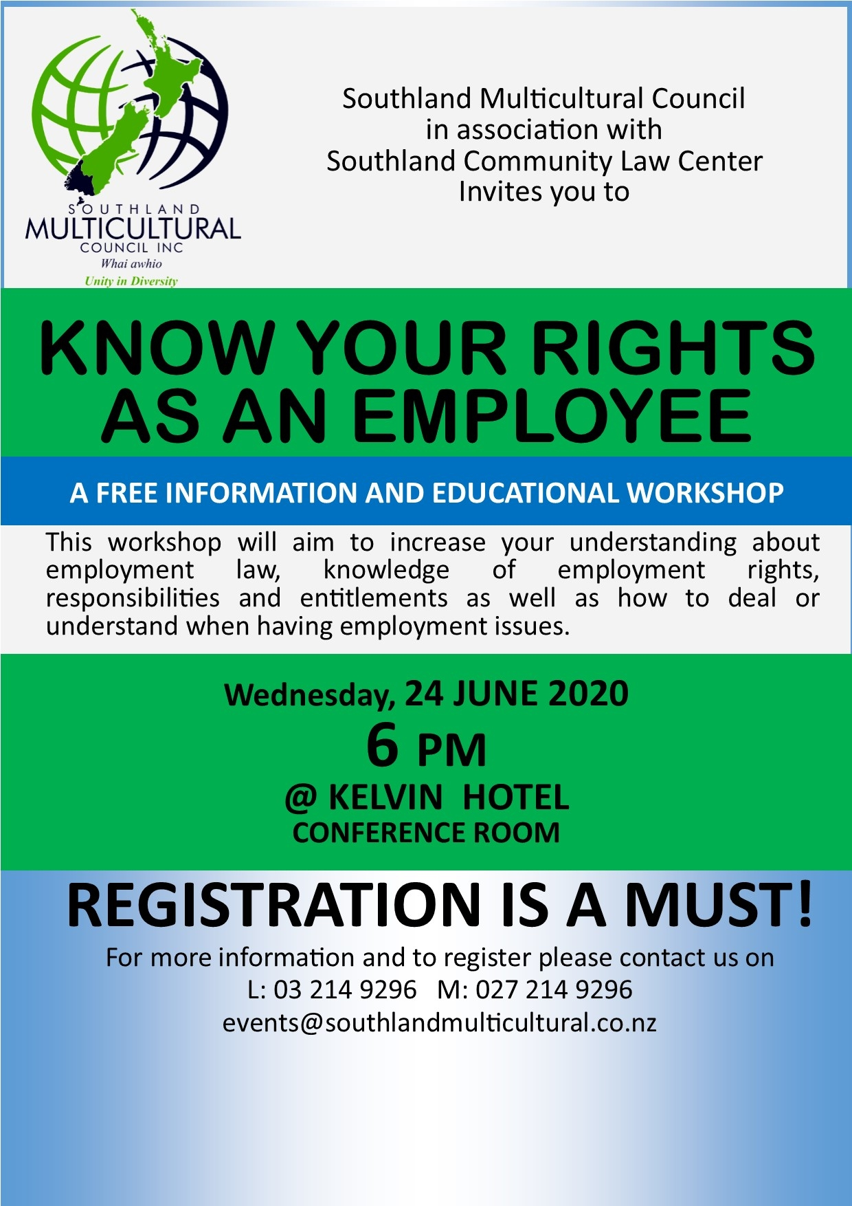 Emplyment Workshop-Know your Rights